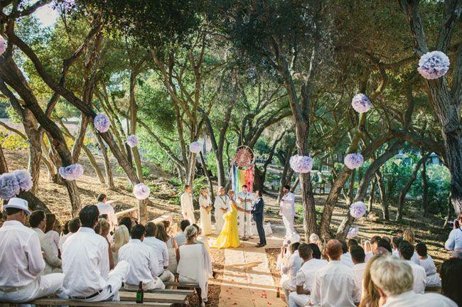 White Rainbow wedding - love this concept http://greenweddingshoes.com/grant-show-katherine-lanasas-wedding/