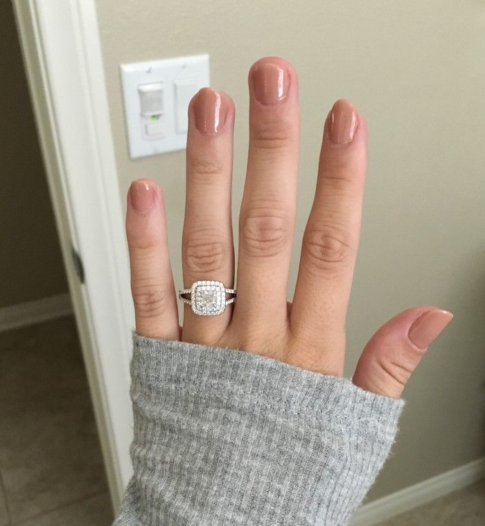 So obsessed with this reader's double halo, split shank engagement ring!