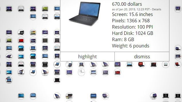 Whether you're in the market for an ultrabook or a true-to-form laptop, finding the perfect one can be tough. This expansive chart lets you filter memory, screen resolution, screen size, weight, and other specs for easy comparisons.