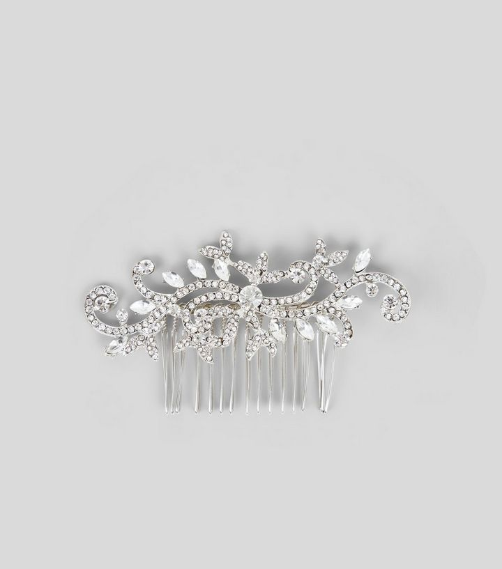 L2017 http://www.newlook.com/row/womens/accessories/hair-accessories/silver-floral-swirl-gem-hair-comb-/p/542675690?comp=Browse