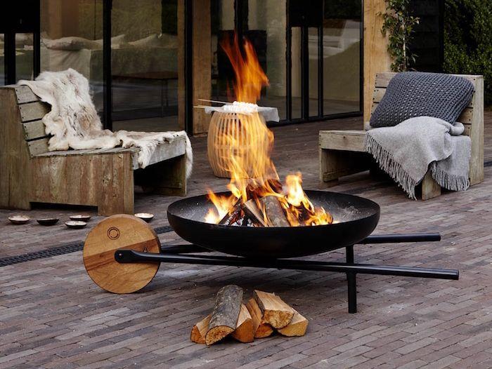 BRASERO de Jardin – 40 modèles design pour rester au chaud