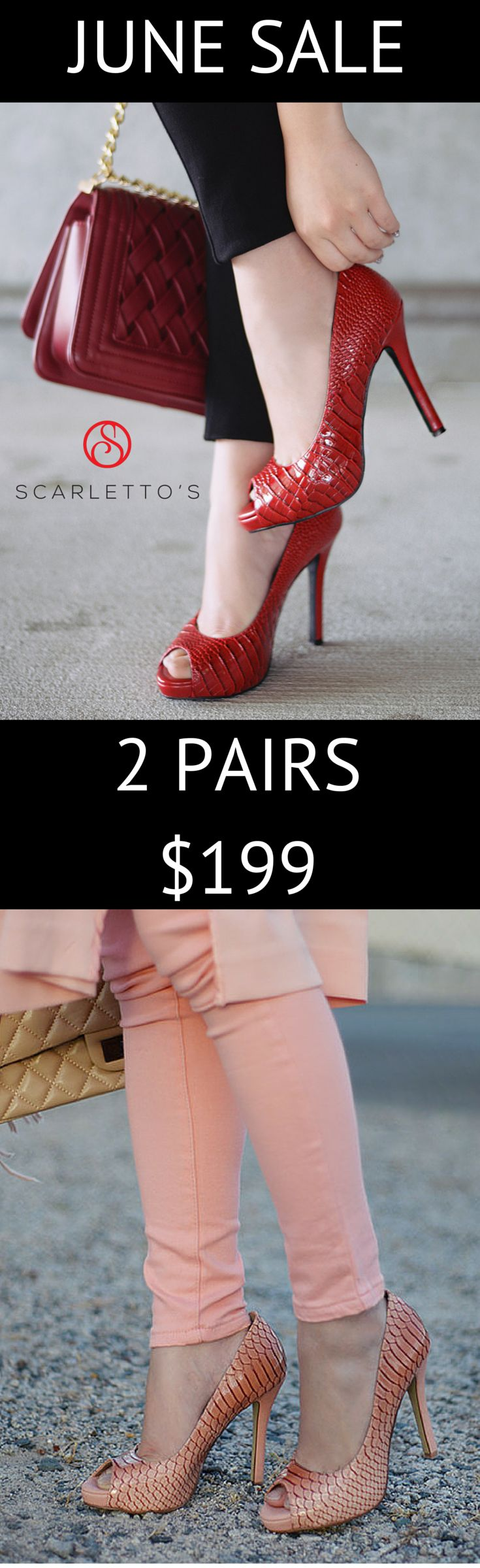 To make room for new stock we are having a massive warehouse clearance sale and are pleased to offer you any 2 pairs for just $199.  Choose two pairs of heels, two pairs of flats or mix it up and grab one of each.  This sale is running for the month of June or until stocks run out.   * Remember, as all of our materials are hand sourced, once they are gone they are gone forever, there are no re-runs or restocking, so grab your favourites today while stocks last…