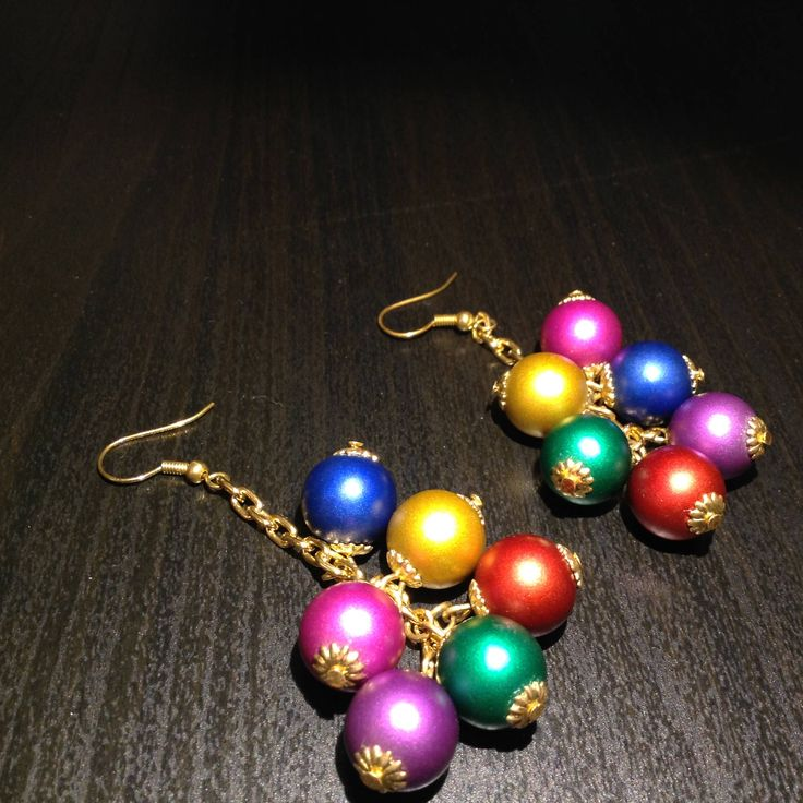 Christmas and Summer Earrings :) di PassionAndBijoux su Etsy
