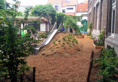 groene speelplaats De Evenaar Antwerpen