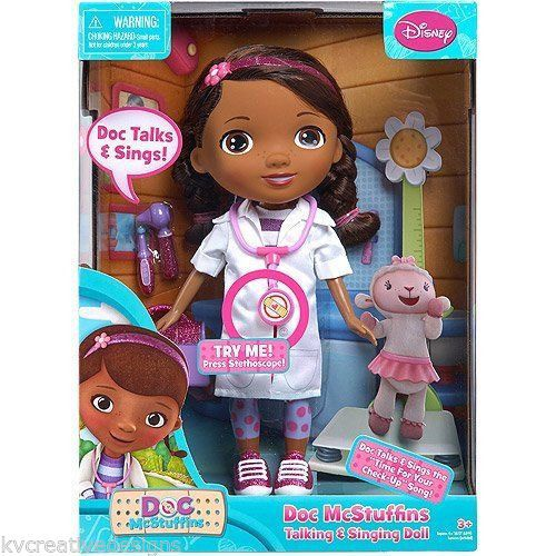 Disney The Doc Is In 4 Piece Doc Mcstuffins Toddler: Disney Doc McStuffins Talking Singing Doll New Just Play