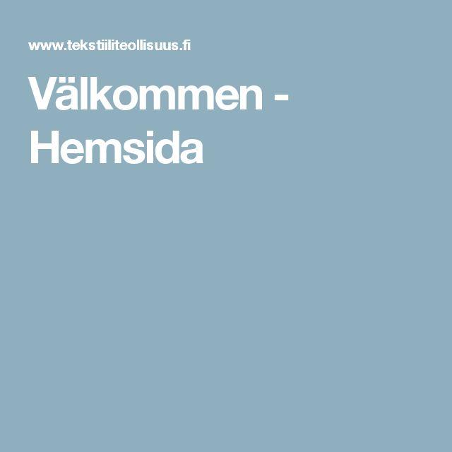Välkommen - Hemsida