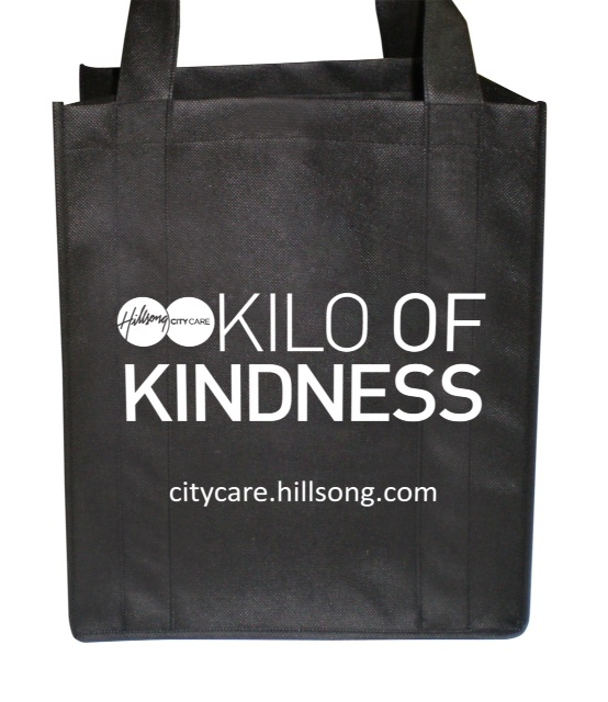 This is our 2013 Kilo of Kindness bag. For more information check out CityCare.hillsong.com