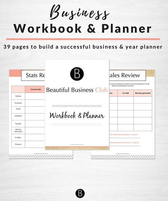 Beautiful Business Workbook and planner plus wall art