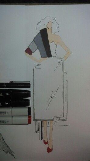 Avantgard fashion illustration by Mahnaz.D