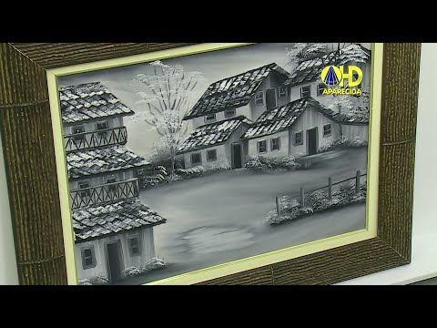 Pintura Monocromática - Pintura em Tecido - YouTube