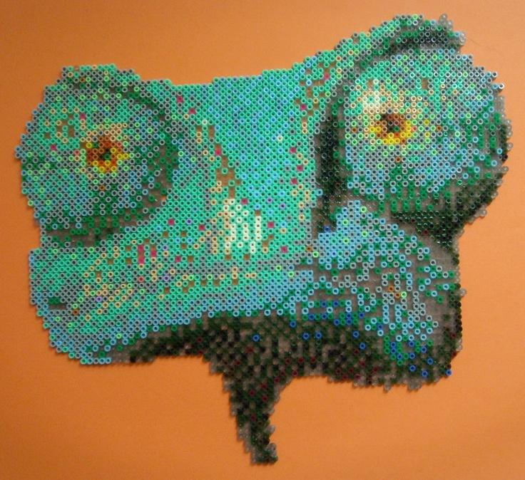 Rango hama beads mini by Hamacreations La figura de Rango