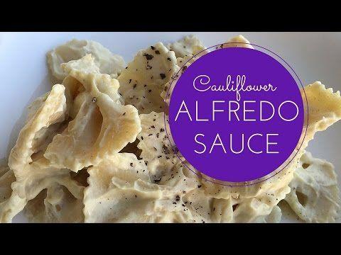 """DAIRY FREE Cauliflower Alfredo """"Cream"""" Sauce - YouTube"""