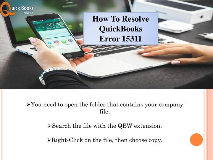 How To Resolve QuickBooks Error 15311 | QuickBooks Error