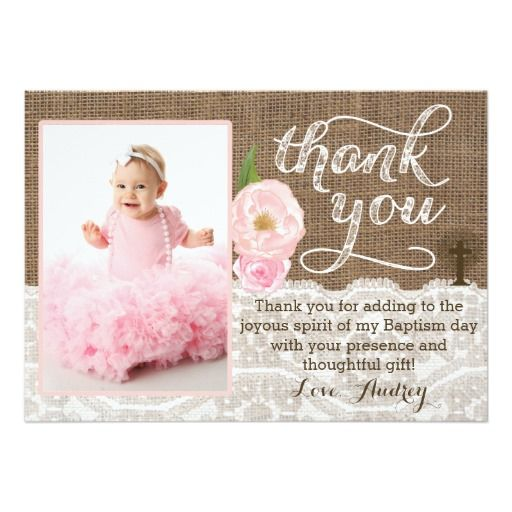 17 Best ideas about Baptism Thank You Cards on Pinterest ...