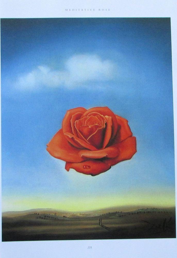 Salvador Dali MEDITATIVE ROSE - ENTDECKUNG AMERIKAS KOLUMBUS 2 Kunstdrucke