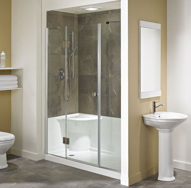 neptune koya acrylic shower base with seat 60x32 - Shower Bases