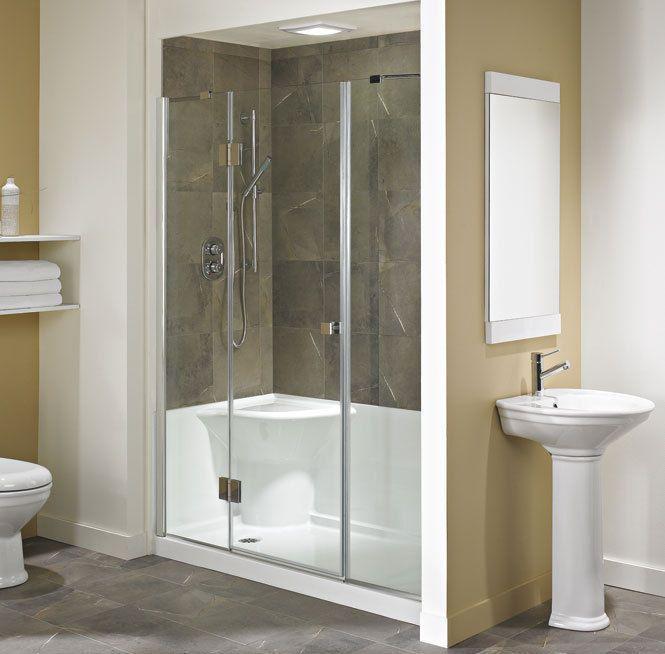 neptune koya acrylic shower base with seat 60x32
