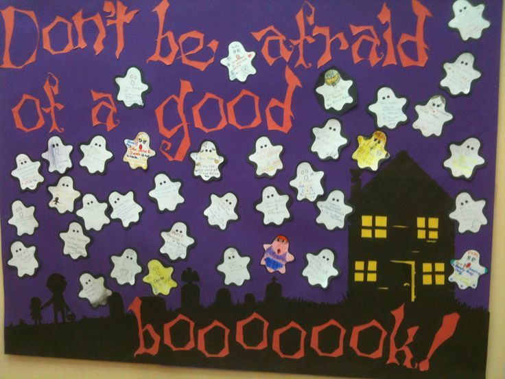 halloween+bulletin+boards+for+toddlers | of a good boooooook! Halloween bulletin board idea. Get your kids ...