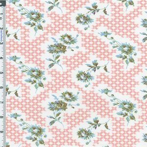American Folk Fabric Cotton Vintage Collection Charlotte's Web Floral Print. Reproduction vintage print by American Folk Fabric on a lightweight plain weave cotton base fabric. Medium soft hand feel, not drapey: suitable for quilting, curtains, and some apparel. Machine wash cold/warm, tumble dry and remove promptly. Pre-wash /shink fabric before cutting.