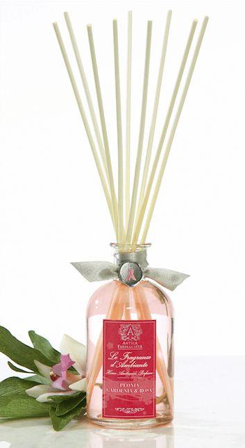 Antica Farmacista Peonia, Gardenia, Rosa diffuser for #BCA