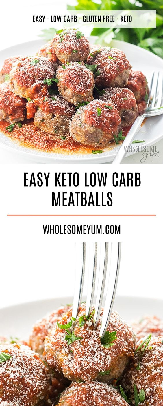 Easy Keto Low Carb Meatballs Recipe - Italian Style - If you're looking for an easy low carb meatballs recipe, Italian style, this is it! These keto meatballs take just 30 minutes to make, and are perfect for low carb dinners and appetizers alike. - Lulu Marcelle