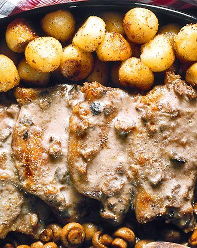 Kotletter med svampsås   Recept.nu