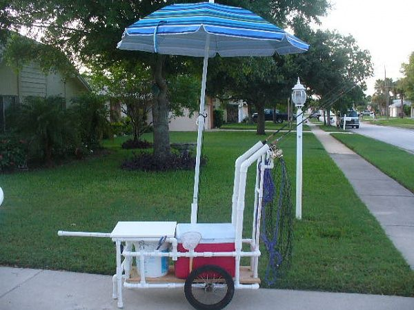 263 best images about pvc inspired on pinterest for Pvc fishing cart
