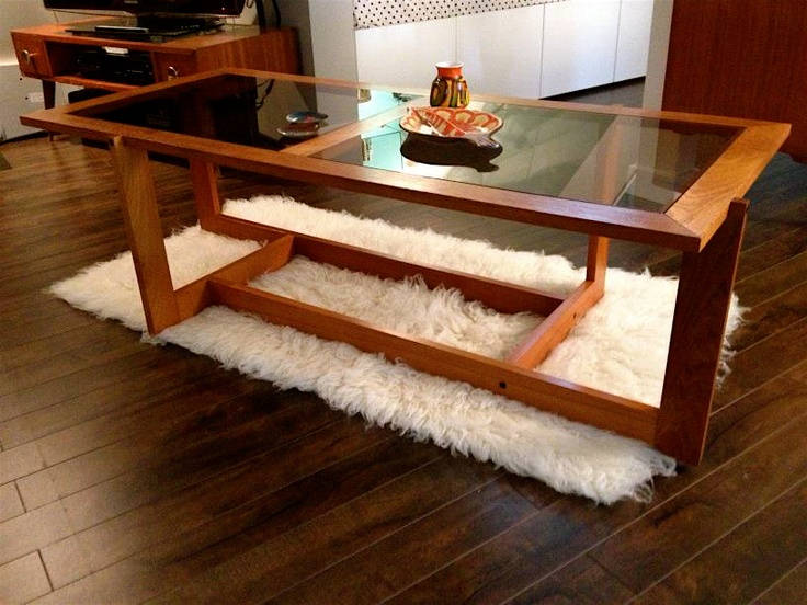 Stylish Mid Century Coffee Table Design In Fascinating Various Models :  Awesome Mid Century Modern Coffee Table Design With Woodframe Glass .