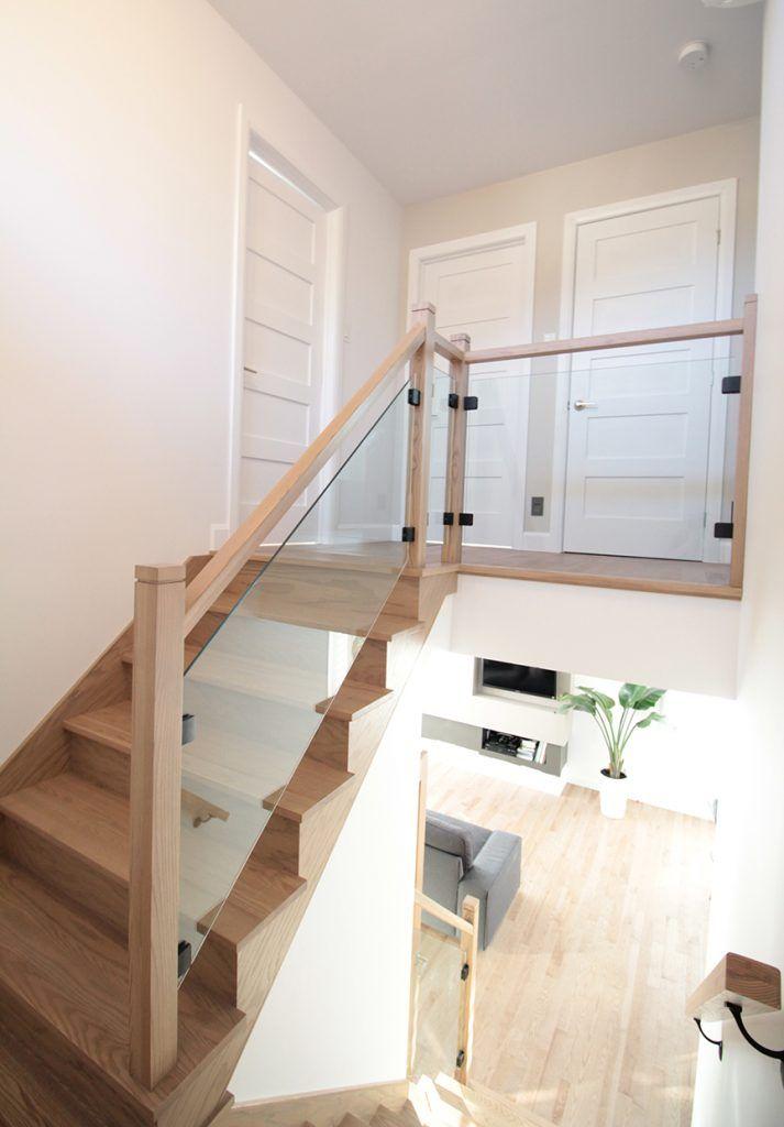 Rampe En Bois Verre Noire Escalier Frene Designer D Interieur