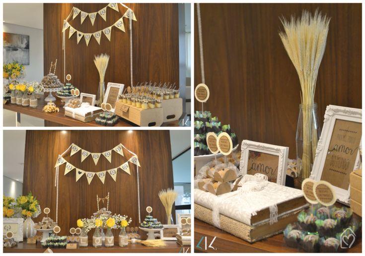 Bodas de trigo. Já imaginaram fazer uma festa para comemorar o aniversário de casamento? Festa linda, cheia de ideias para comemora 2 anos de casamento