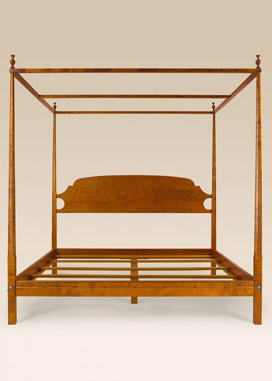 King pencil post bed plans woodworking projects plans for Shaker bed plans