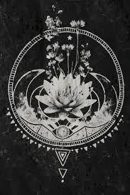 Resultado de imagen de dibujo flor de loto art nouveau