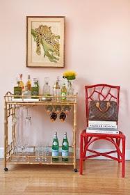 Home barFauxbamboo, Dining Room, Minis Bar, Beverages Carts, S'More Bar, S'Mores Bar, Living Room, Faux Bamboo, Bar Carts