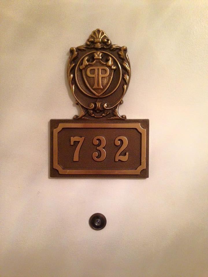 Hotel Room Door Number