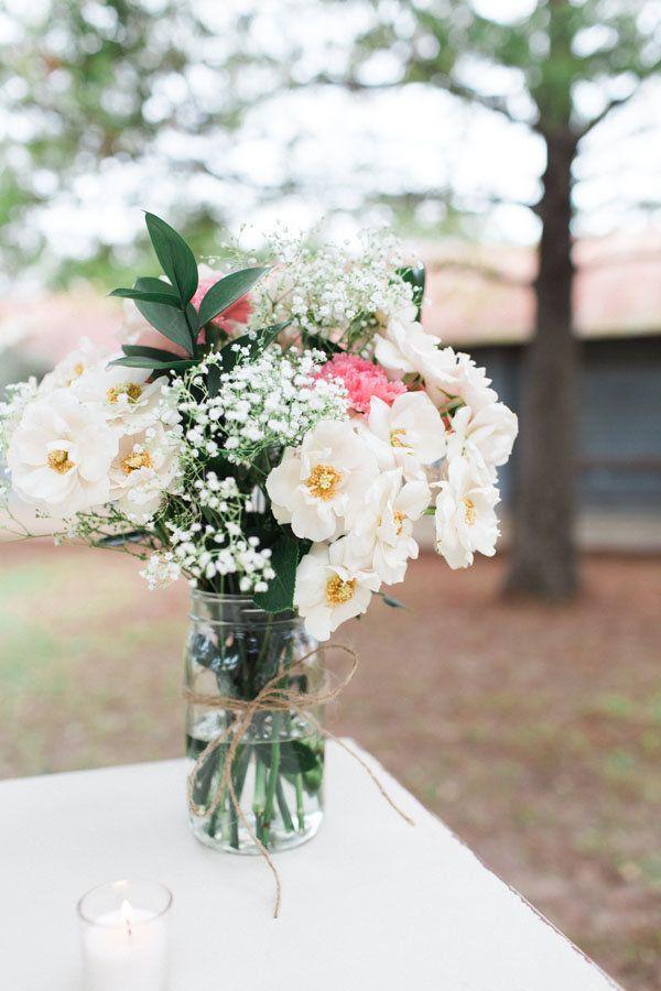 DIY floral arrangement idea.