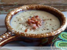 Roasted Cauliflower and Bacon Soup   #CavegirlCuisine