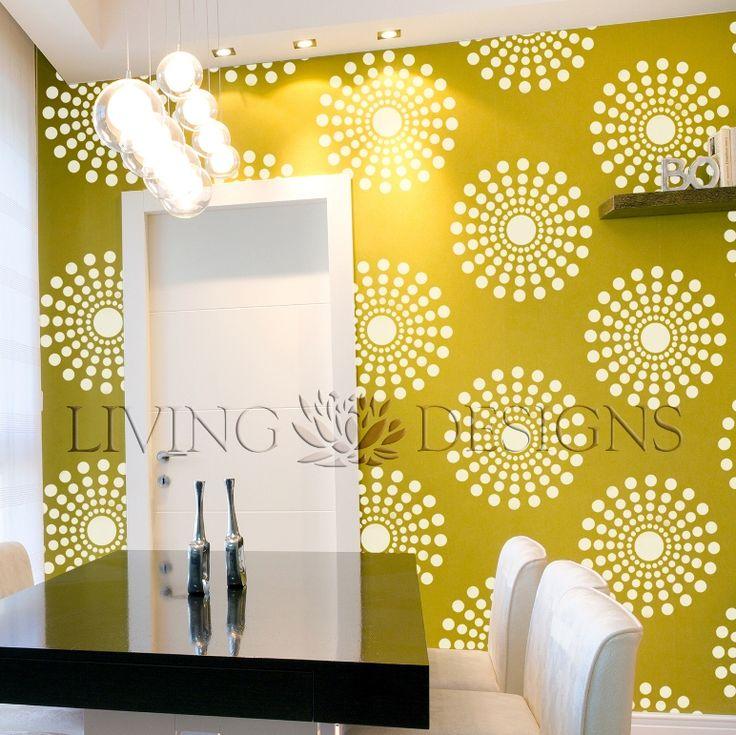 Plantilla decorativa para pintar paredes y crear efectos como el papel tapiz y vinilos - Pinturas decorativas paredes ...