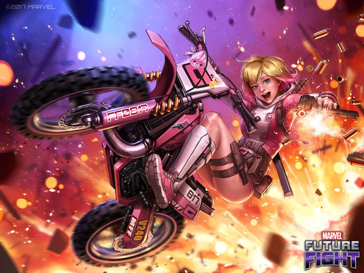 ArtStation - Gwenpool Marvel Future Fight banner ; New costume ver3.1.0, JeeHyung lee