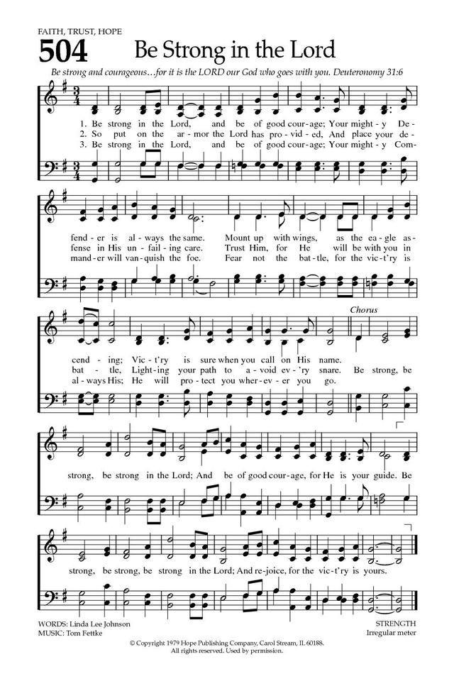 Be strong gospel song