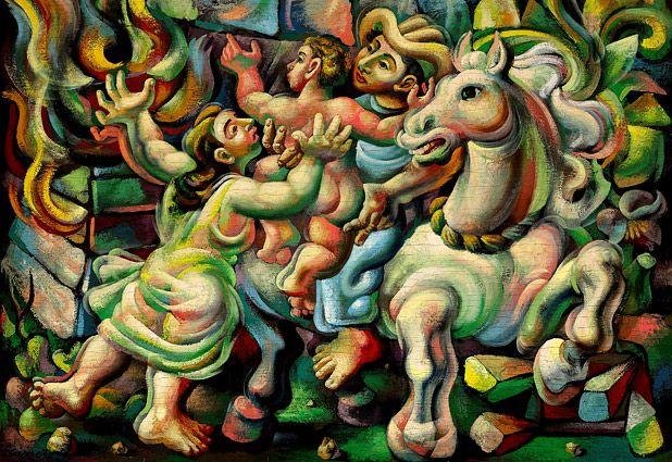 """Mario Carreño """"Fuego en el batey""""  http://www.artexperiencenyc.com/social_login"""