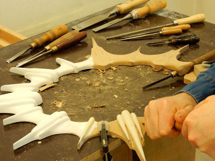 Hand Carving the Nouvelle mirror...