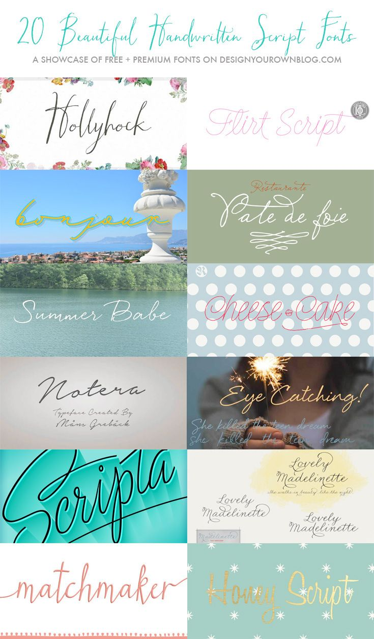cursive fonts for wedding cards%0A    Beautiful Handwritten Script Fonts  free and premium font showcase on  DesignYourOwnBlog com