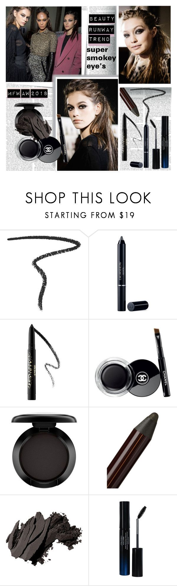 """Runaway Trend Super Smokey eyes"" by stylepersonal ❤ liked on Polyvore featuring beauty, Post-It, By Terry, Christian Dior, Kat Von D, Chanel, MAC Cosmetics, Charlotte Tilbury, Bobbi Brown Cosmetics and John Lewis"