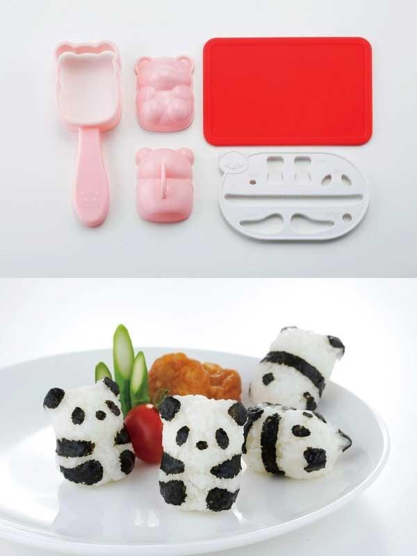 Onigiri Sushi Panda Bebe 3d Rice Ball Comida Japonesa Obento