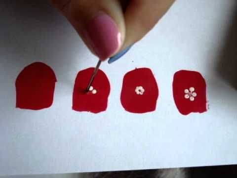 Cómo hacer flores en las uñas / how to draw flowers on your nails (+list...