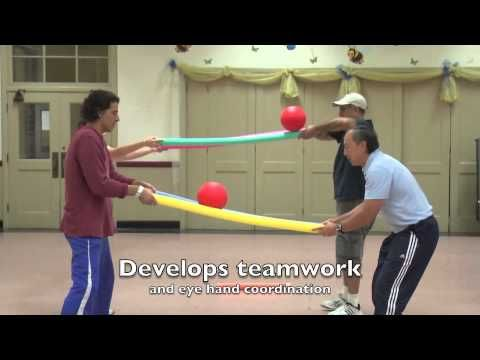 Fun Activities using Foam Noodles. Balancing on noodles can be connected to an idea