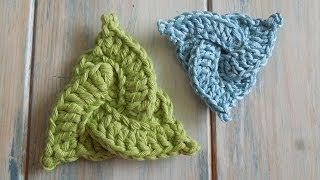 How To Crochet a Celtic Triangle - Yarn Scrap Friday - video tutorial by HappyBerry Crochet