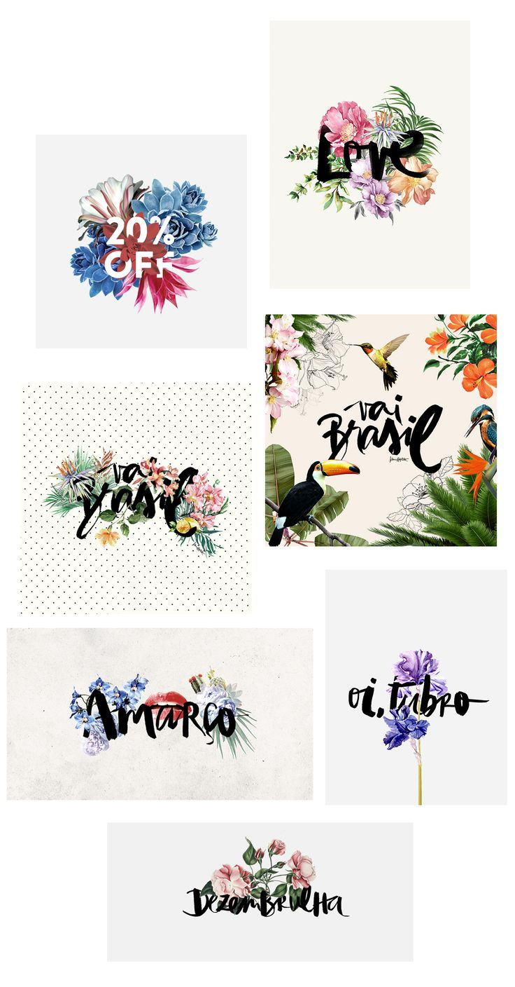 Lettering inspiration by Karen Hofstetter love the flowers and colour against the rough energy of brush lettering