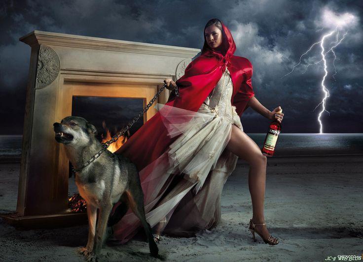 A Campari fairytale. #redridinghood #fashiontale