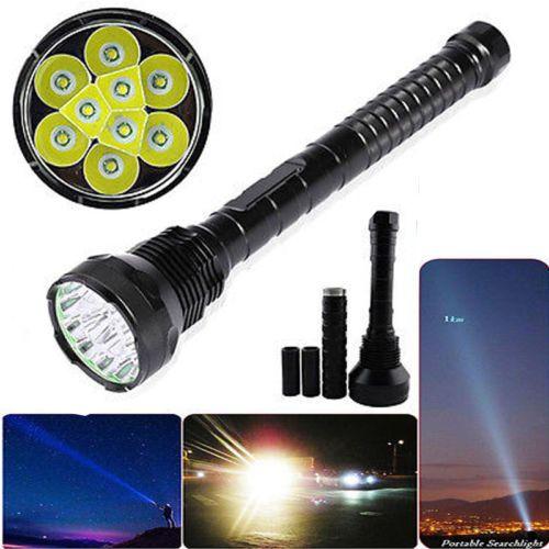 12000LM 9x XML T6 LED Flashlight Torch 3X 18650/26650 Camping Light Hunting Lamp